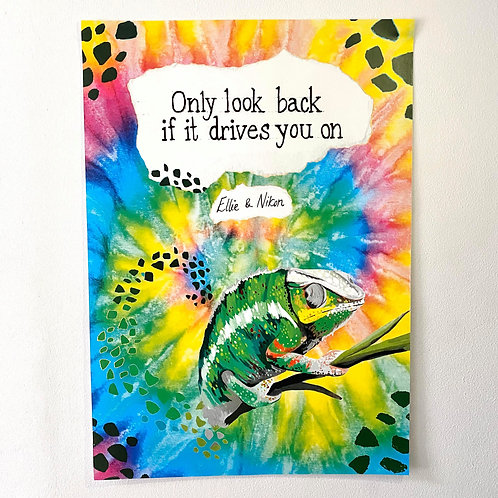 Poster: Only look back if it drives you on