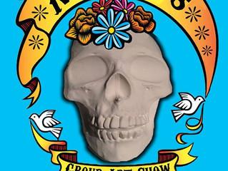Dia De Los Muertos art show at La Bodega on 11/1/2014
