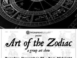 Art of the Zodiac show on 11/25