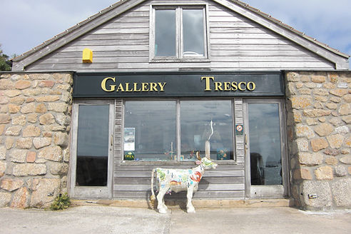 Scilly Cow outside Gallery Tresco.jpg