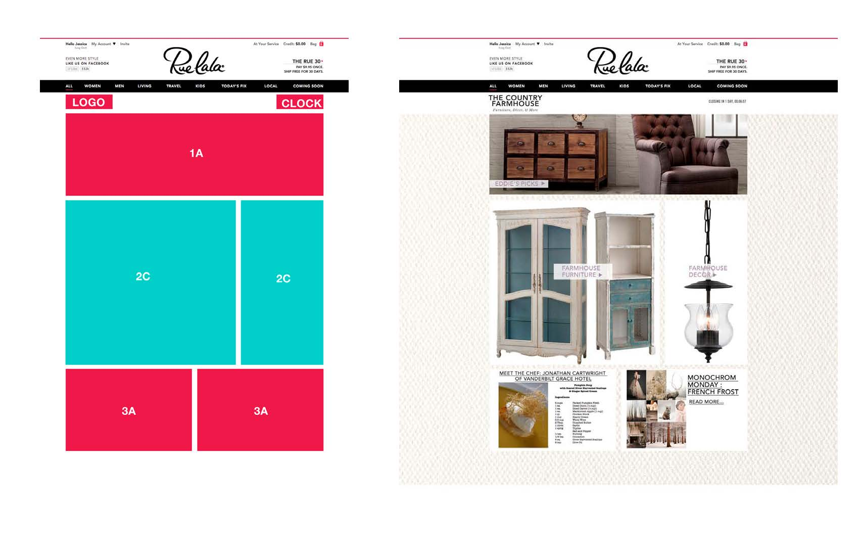 Site take over layout example