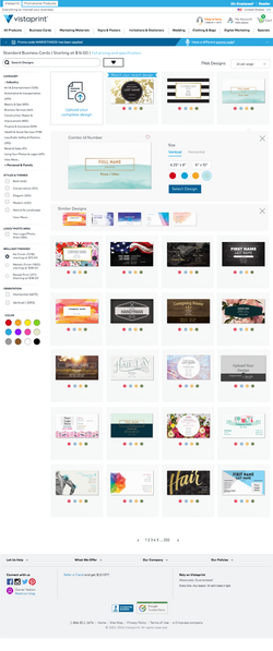 Desktop gallery page