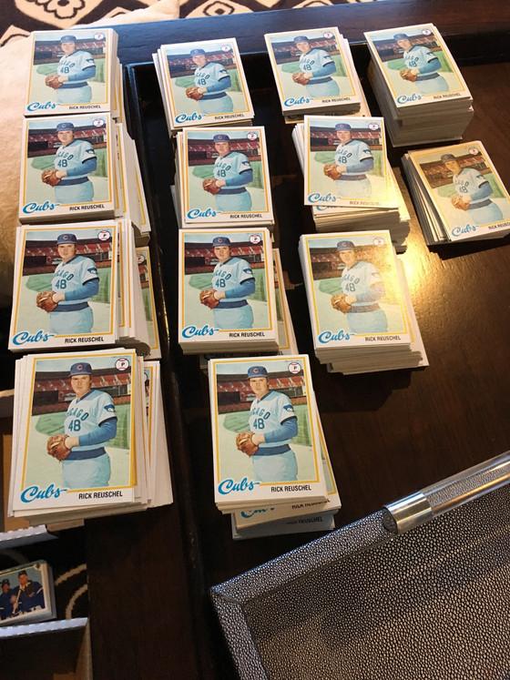 Facebook Marketplace Yields More Than 1,200 Rick Reuschel Cards