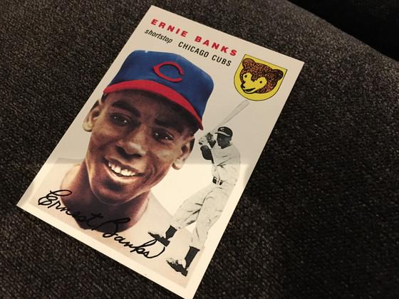 I Landed a 1954 Topps Ernie Banks....Reprint