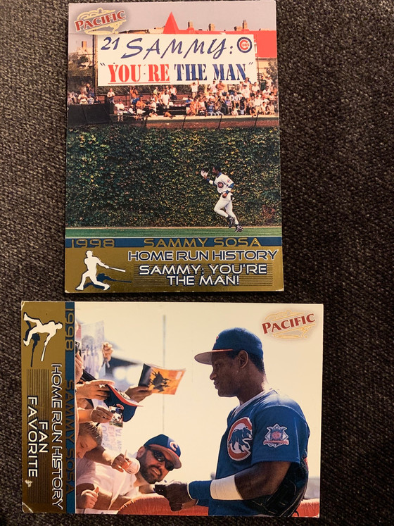 Kris Bryant Topps Short Print and a Couple New Sammy Sosa Cards
