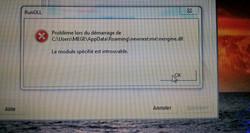 Problème au démarrage de Windows