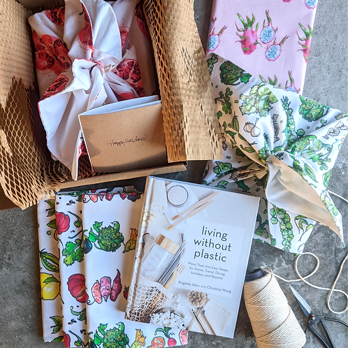 Living Without Plastic Gift Wrap Bundle