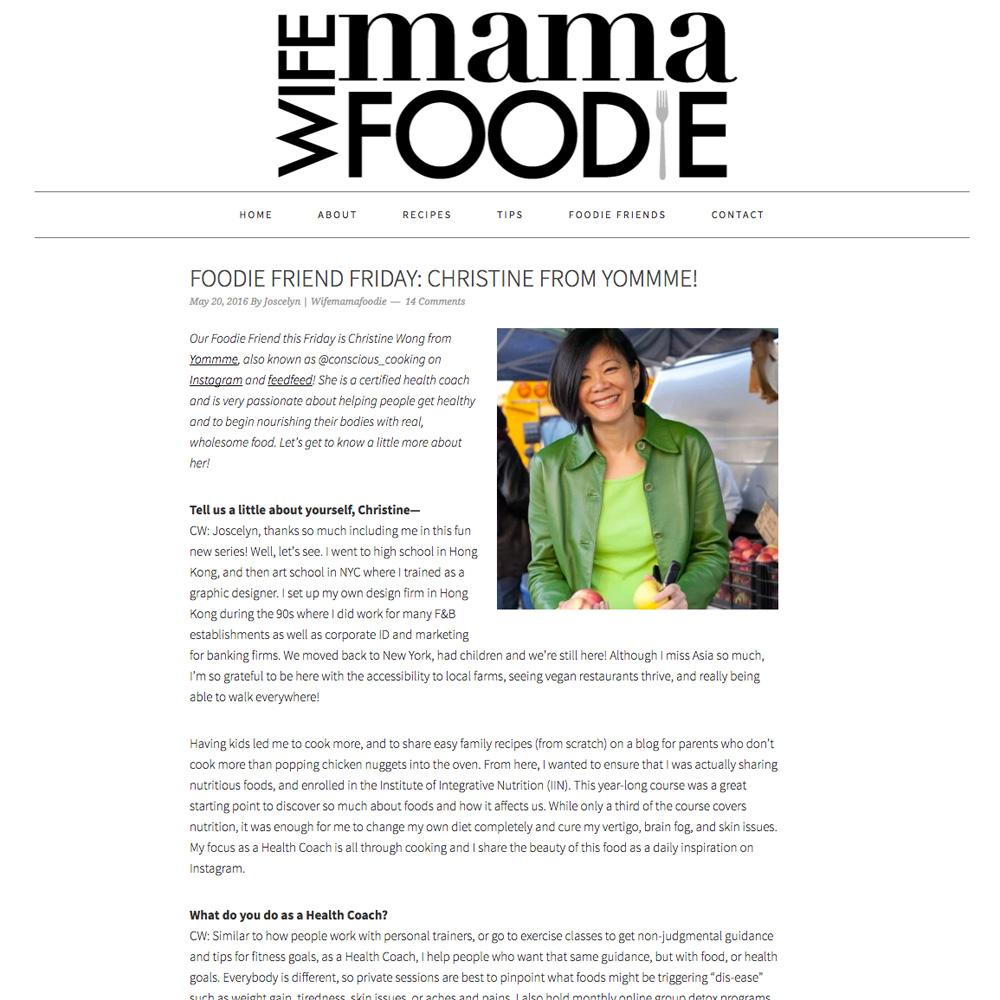 Wife Mama Foodie