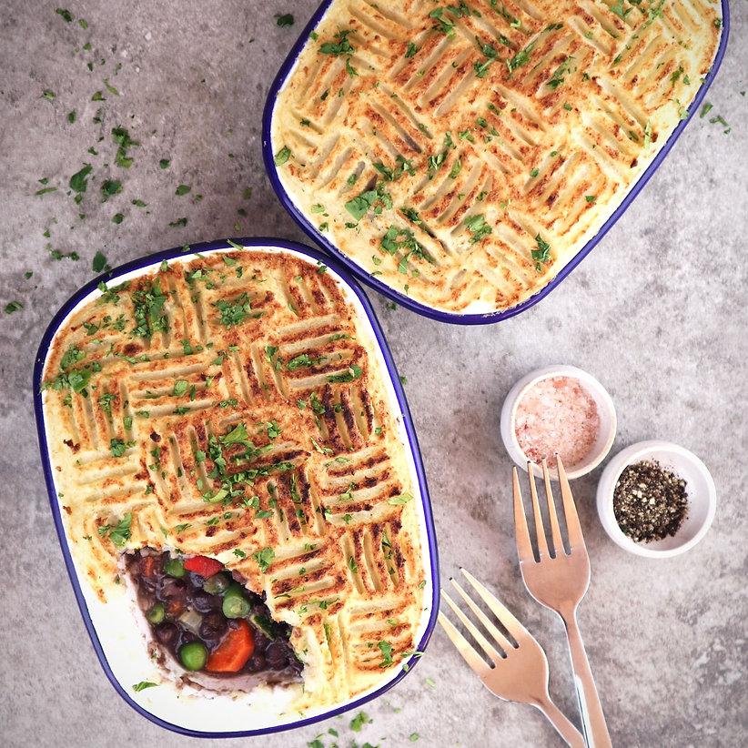 gardeners pie with celeriac mash