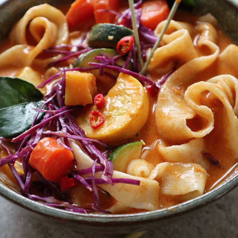 red curry noodle soup