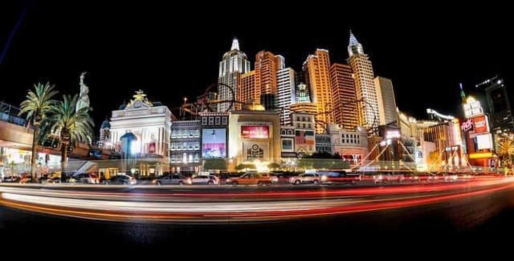 Panorama de nuit de Las Vegas