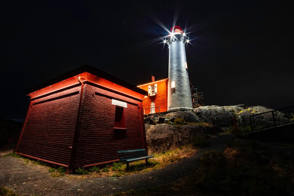 Fisgard Lighthouse At Night