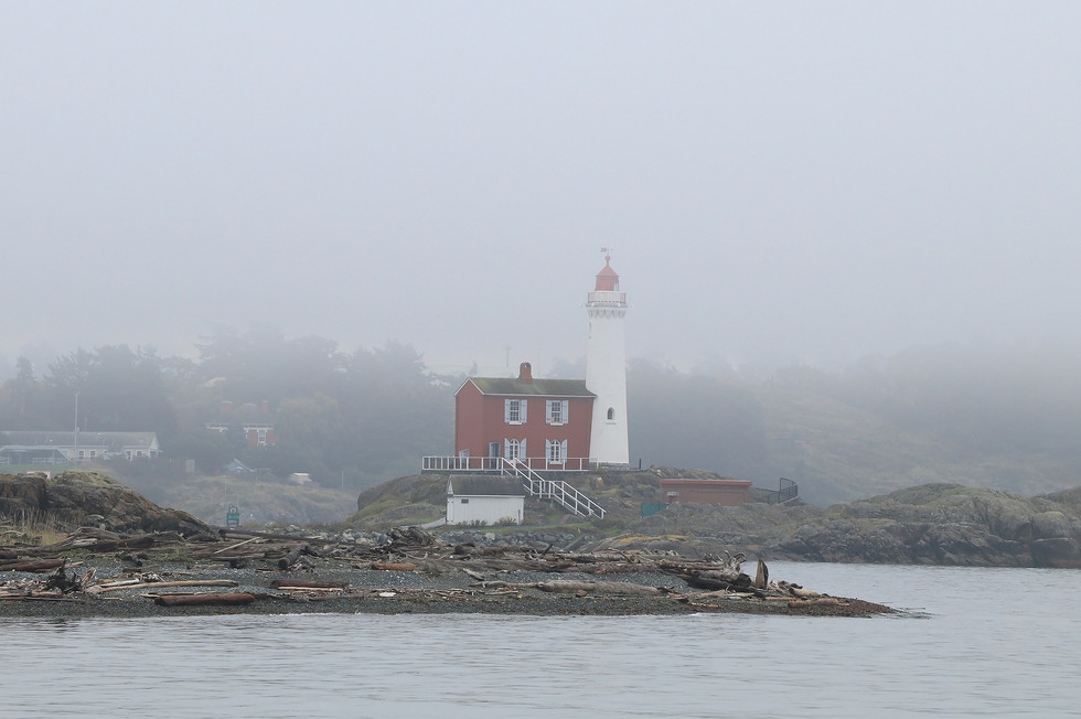 Fisgard Lighthouse In Fog