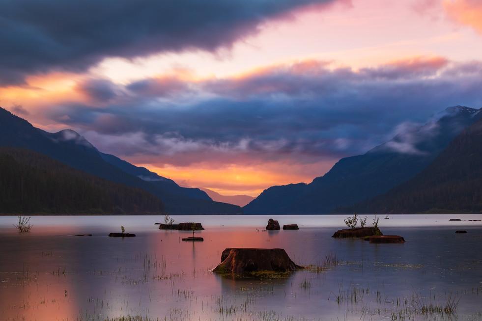 Buttle Lake Sunset