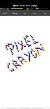 Pixel crayon