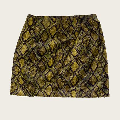 Versace Snake Pattern Mini Skirt