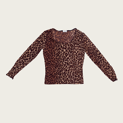 Dolce and Gabbana Leopard Print Top