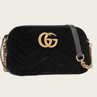 Gucci Velvet Matelassé GG Marmont