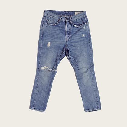 AllSaints Distressed Mid-Rise Boyfriend Jeans