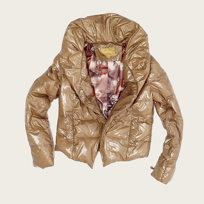 Caitheiy Shiny Puffer Coat