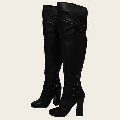Dolce & Gabbana Studded Over-The-Knee Boots