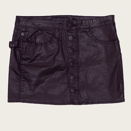 Rock and Republic Coated Mini Skirt