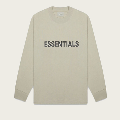 Fear of God Essentials Boxy Long Sleeve T-Shirt in Moss