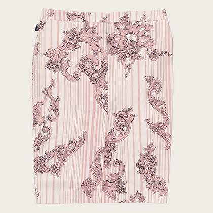 Moschino Jeans Pink Denim Knee-Length Skirt