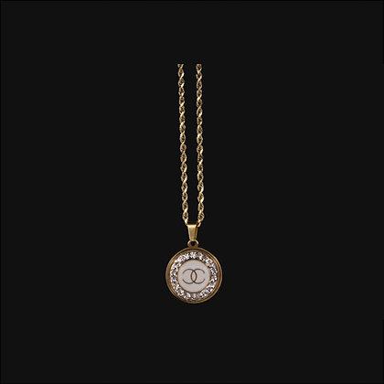 Diamanté Chanel Necklace in White