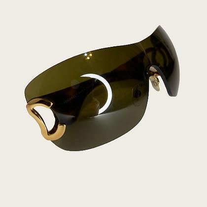 "Vintage ""CC"" Brown Chanel Sunglasses"