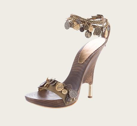 Roberto Cavalli Coin Heels