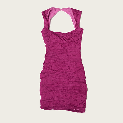 "Nicole Miller ""Cotton Metal"" Sleeveless Blouson Mini Dress"