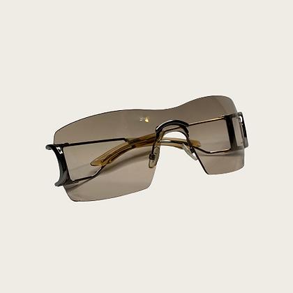 Brown Rimless Dior Sunglasses