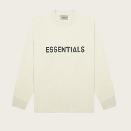 Fear of God Essentials Boxy Long Sleeve T-Shirt in Cream