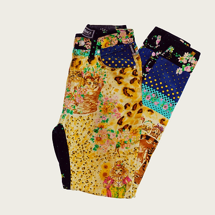 Vintage Versace High-Rise Cat Pants