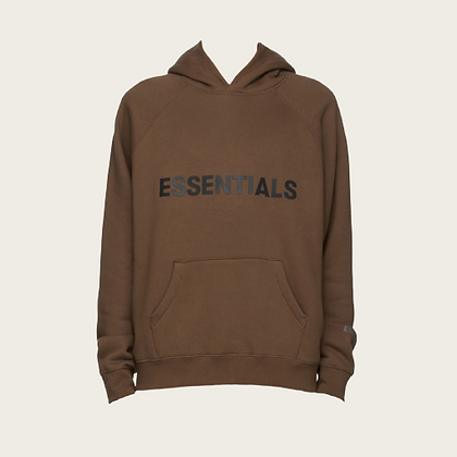 Fear of God Essentials Pullover Hoodie in Brown