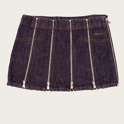 Dolce and Gabbana Zipper Panel Mini Skirt