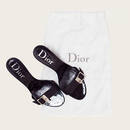 "Christian Dior Jacquard ""Lock & Key"" Heels"
