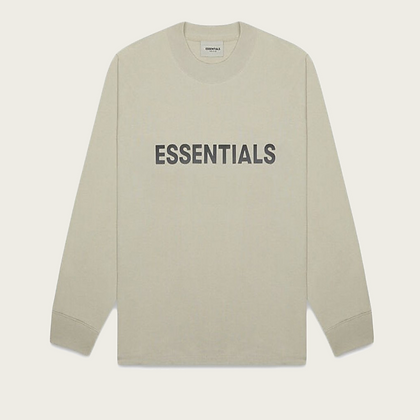 Fear of God Essentials Boxy Long Sleeve T-Shirt in Olive