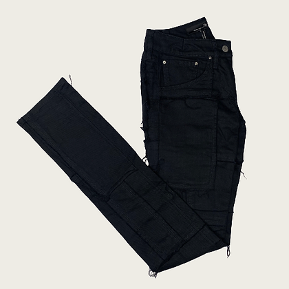 Isabel Marant Low-Rise Patchwork Jeans in Black