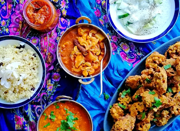 Indian Thali Cooking Class and Meal | Sunday 11th July 1-5pm