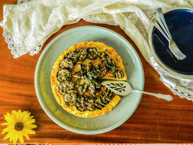 Zucchini Cheesecake Recipe, Savoury, Vegan and Gluten free