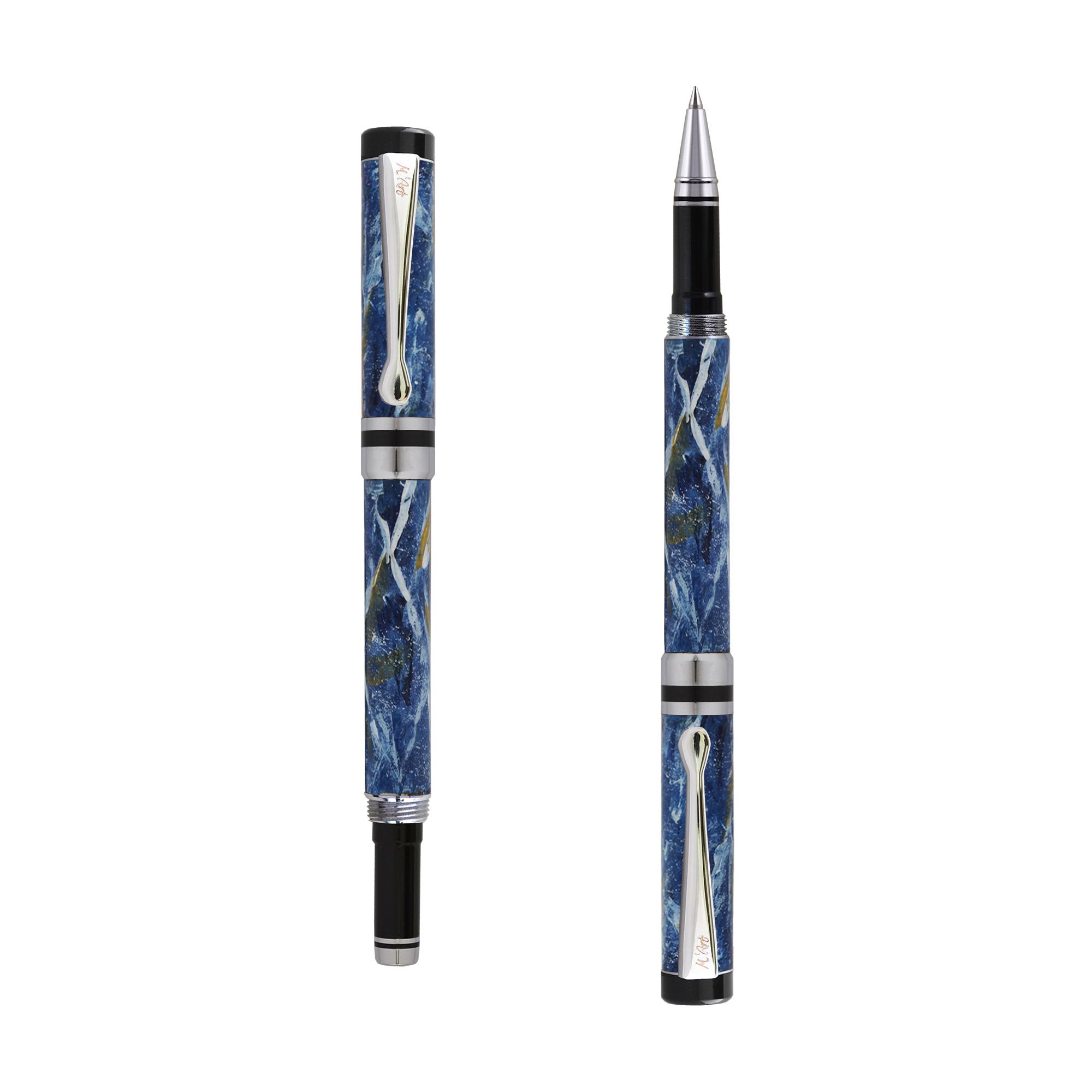 Ipazia roller Blu marble effect