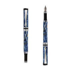 Ipazia fountain pen Blu marble effect