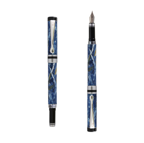 Ipazia fountain pen in Blue marble effect