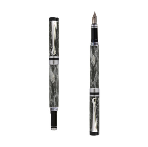 Ipazia fountain pen in Gray marble effect