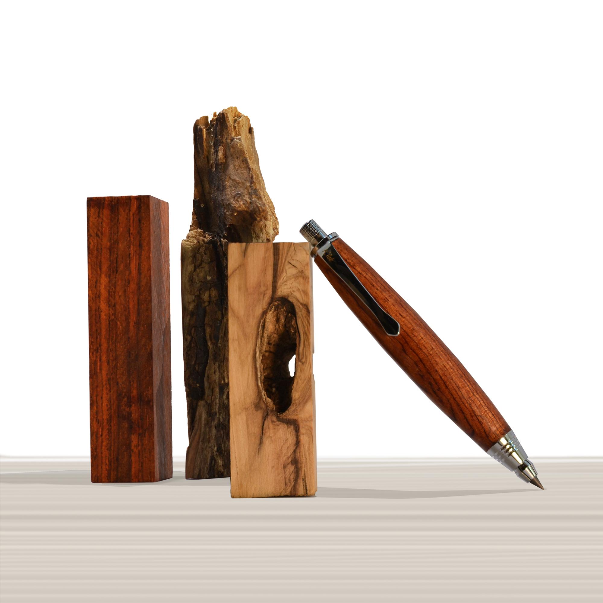 Ligabue pencil in Bubinga wood
