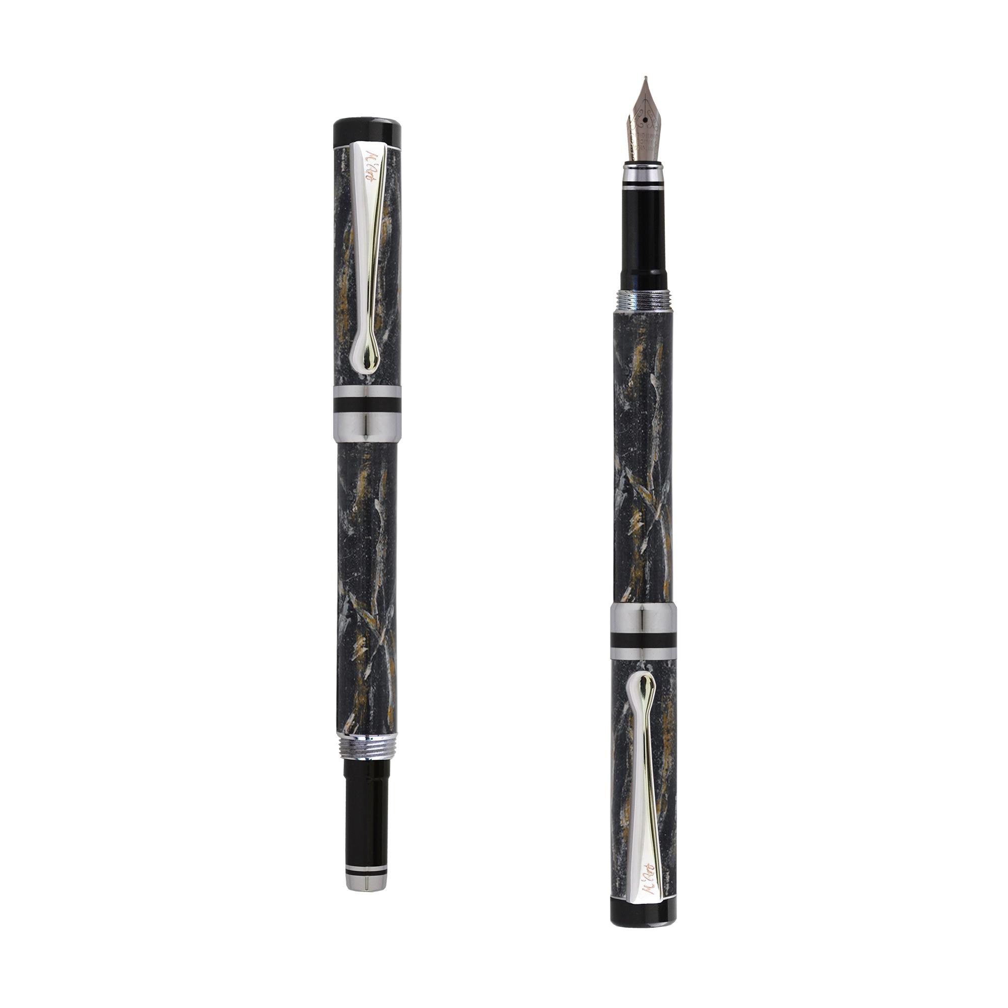 Ipazia fountain pen Black marble effect
