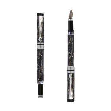 Ipazia fountain pen in Black marble effect