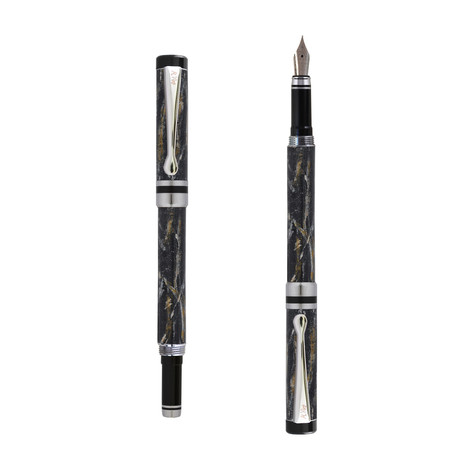 Ipazia fountain pen in Black marble effect